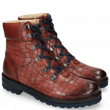 Ankle boots Bonnie 16 Crock Ruby Laces Navy