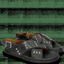 Sandals Helen 10 Pavia Black Studs