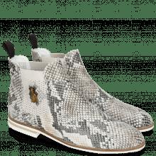 Ankle boots Susan 10A Snake Multi Florida Elastic Guglia Light Grey