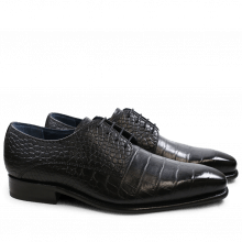 Derby shoes Stanley 2 Croco Black LS
