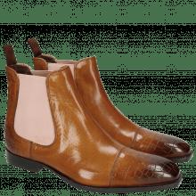 Ankle boots Woody 7 Crock Cognac Elastic Rose