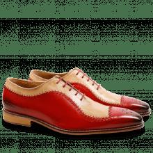 Oxford shoes Clark 2 Crust Red Beige LS