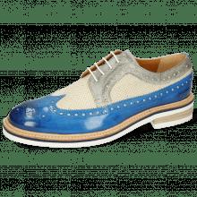 Derby shoes Trevor 10 Vegas Bluette Digital Linen Jute Mesh
