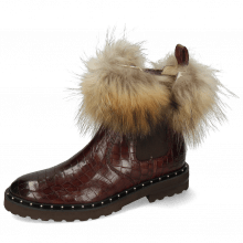 Ankle boots Sally 114 Chestnut Fur Lionel Brown