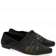 Loafers Joolie 12 Woven Nappa Black