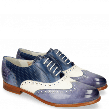 Oxford shoes Selina 24 Vegas Moroccan Blue White Navy Perfo