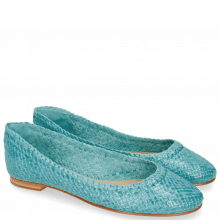 Ballet Pumps Kate 5 Woven Turquoise