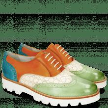 Oxford shoes Selina 24 Vegas Lawn Perfo White Tibet Turquoise
