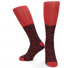 Socks Jamie 1 Knee High Socks Navy Red