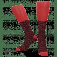 Socks Jamie 1 Knee High Socks Navy Red
