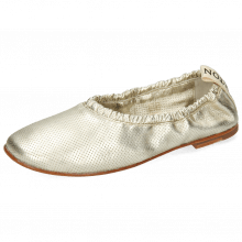 Ballet Pumps Iris 2 Nappa Metallic Perfo Platin Super Flex