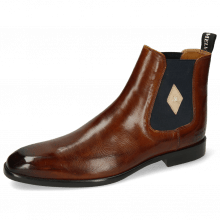 Ankle boots Elyas 5 Wood Elastic Navy