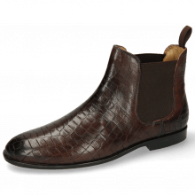 Ankle boots Susan 10 Crock Mogano Elastic Dark Brown