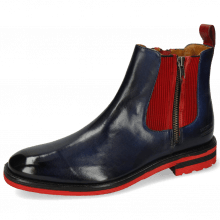 Ankle boots Eddy 25 Navy Elastic Ribbed Red