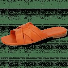 Mules Elodie 46 Nappa Orange