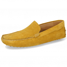 Loafers Nelson 1 Suede Pattini Yellow