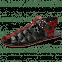 Sandals Sam 30 Turtle Red Shade Black