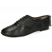 Oxford shoes Iris 13 Nappa Black Strap M&H Flex