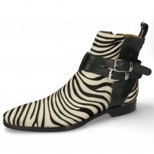 Ankle boots Elvis 45  Hairon Zebra Black White