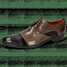 Derby shoes Toni 39 Crock London Fog Soft Patent Black Smoke Suede Pattini Black