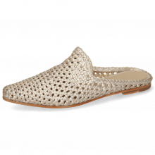 Mules Joolie 14 Open Weave Rose Gold