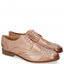 Derby shoes Sally 53 Berlin Rose Rivets