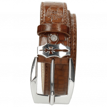 Belts Larry 1 Crock Mid Brown Sword Buckle