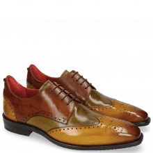 Derby shoes Dave 2 Yellow Olive Wood