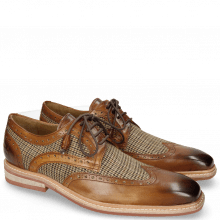 Derby shoes Marvin 18 Mid Brown Textile English