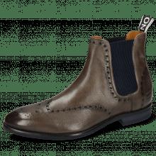 Ankle boots Bobby 8 Imola Stone Elastic Ribbed Navy