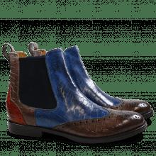 Ankle boots Amelie 5 Crock Stone Pop Blue Orange Elastic Navy HRS