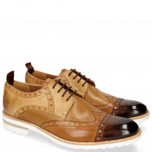 Derby shoes Eddy 48 Mid Brown Tan Perfo Underlay Sand Howline Nude