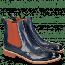 Ankle boots Amelie 5 Marine Elastic Orange