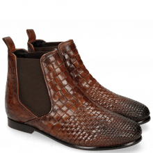 Ankle boots Lina 2 Interlaced Mogano