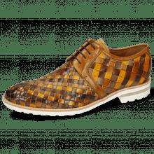 Derby shoes Brad 1 Woven Vegas Chestnut Ocra Sabbia Mid Brown