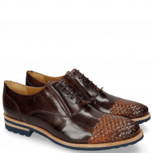 Oxford shoes Brad 8 Mogano Interlaced Winter Orange
