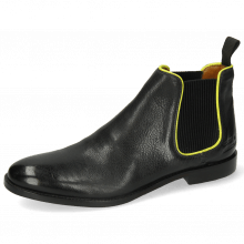 Ankle boots Amelie 4 Pisa Black Binding Fluo Yellow