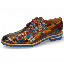 Derby shoes Brad 7 Woven Multi Rubino Yellow Ice Lake