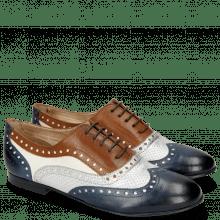 Oxford shoes Xia 2 Rio Marine Talca Perfo Aluminium Tan White