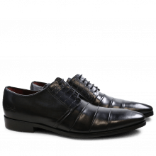 Derby shoes Elvis 29  Crust Crock Black Washed Black Washed LS Black