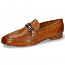 Loafers Clive 16 Pisa Tan Strap Navy Orange Olive