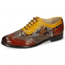 Oxford shoes Selina 56 Imola Rust Stone Dafne Spritz Indy Yellow