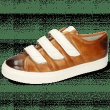 Sneakers Harvey 38 Imola Tan Shade Dark Brown Strap White