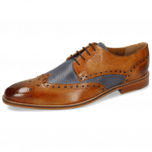 Derby shoes Martin 15 Berlin Tan Perfo Navy