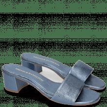 Mules Alice 1 Woven Cherso Silver Blue