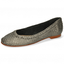 Ballet Pumps Kate 5 Woven Pewter