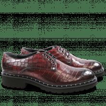 Derby shoes Sissy 1 Burgundy Rivets Nickel