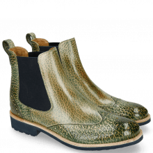 Ankle boots Amelie 5 Brazil Soft Harris Green Elastic Navy