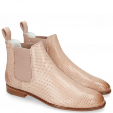 Ankle boots Susan 10 Verona Perfo Pink Salt Elastic Rosa