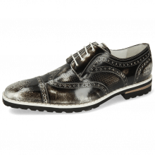 Derby shoes Clark 45 Brush Off Black White